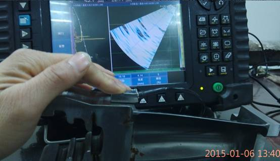 超声相控阵检测叶根