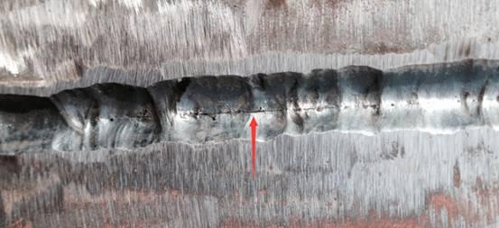 焊缝中未焊透缺陷