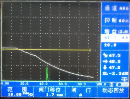 超声检测垂直线性