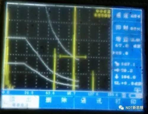 超声检测山形波
