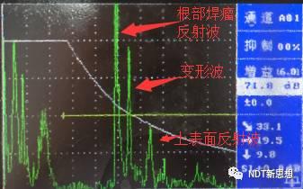 焊缝超声检测伪缺陷(山形波)特征