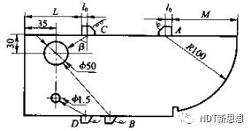斜探头K值测量方法