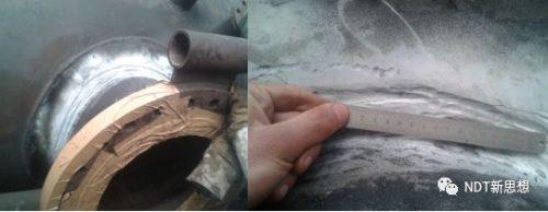 人孔门角焊缝磁粉检测裂纹