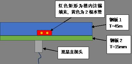 图2  局部放大及扫查示意图